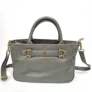 Tory Burch Handbag Removable Crossbody Strap Grey
